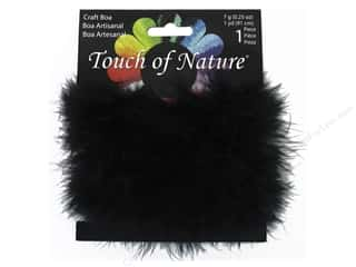 Clearance: Midwest Design Fluffy Craft Marabou Feather Boa 1 yd. Black