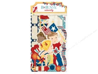 die cuts: Bo Bunny Noteworthy Journaling Cards Firecracker