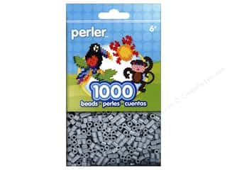 beading & jewelry making supplies: Perler Beads 1000 pc. Light Grey