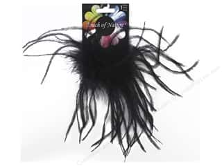 "Midwest Design Clip Ostrich Fluffy 4"" Black"