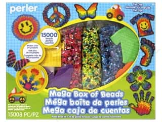 beading & jewelry making supplies: Perler Fused Bead Kit Mega Tie Dye 15000pc