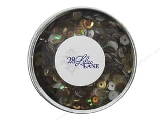 beading & jewelry making supplies: Buttons Galore 28 Lilac Lane Sequin Tin Neutrals