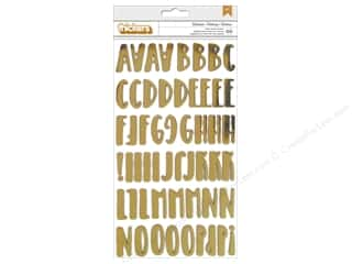 Spring Stickers: Pebbles Collection Spring Fling Thickers Stickers Celebrate Gold Foil