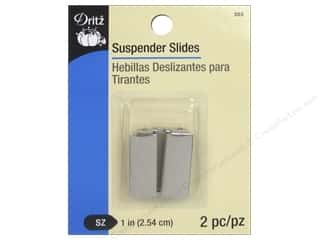 Dritz Suspender Slides 2 pc. Nickel