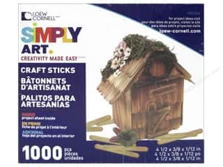 craft & hobbies: Loew Cornell Simply Art Wood Craft Sticks 1000 pc.