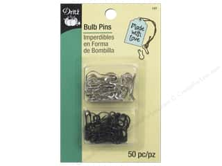 Dritz Bulb Pins 50 pc. Black & Nickel