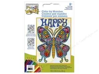 "Dimensions Color By Number 9""x 12"" Pattern Butterfly"