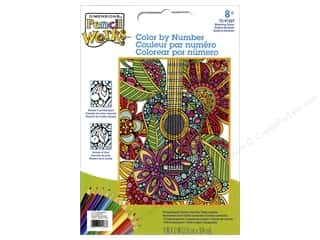"projects & kits: Dimensions Color By Number 9""x 12"" Blooming Guitar"