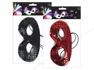 Midwest Design Mask It Half Sequin Assorted Red/Black