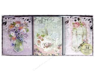 Punch Studio Note Cards Trio Pretty Pastels