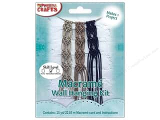 craft & hobbies: Pepperell Kits Macrame Wall Hanging