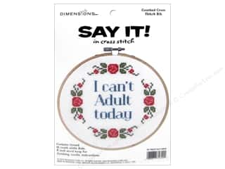 yarn & needlework: Dimensions Counted Cross Stitch Kit 6 in. Say It! Can't Adult