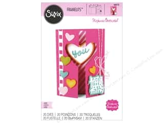 dies: Sizzix Framelits Die Set 20 pc. Mini Half Card