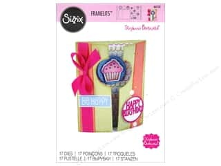 Clearance: Sizzix Framelits Die Set 17 pc. Half A2 Card