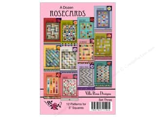 books & patterns: Villa Rosa Designs A Dozen Rosecards Pattern Cards - Set 3