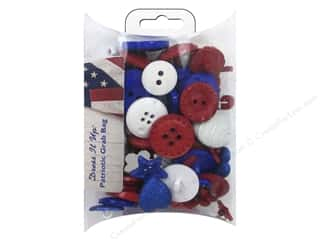 craft & hobbies: Jesse James Dress It Up Embellishments Grab Bag Patriotic