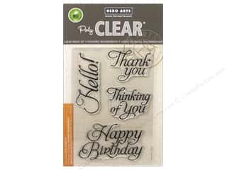 stamps: Hero Arts Poly Clear Stamps Fancy Basics
