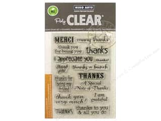 stamp: Hero Arts Poly Clear Stamps Thanks A Bunch