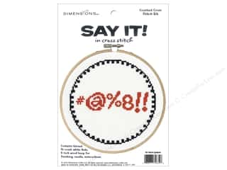 projects & kits: Dimensions Counted Cross Stitch Kit 6 in. Say It! Symbols