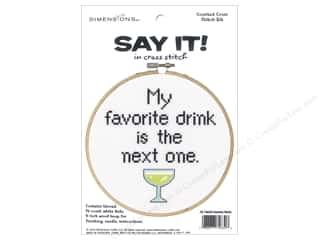 projects & kits: Dimensions Counted Cross Stitch Kit 6 in. Say It! Favorite Drink