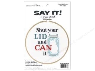 yarn & needlework: Dimensions Cross Stitch Kit Say It! Shut Your Lid
