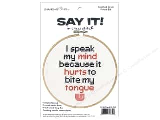 Dimensions Counted Cross Stitch Kit 6 in. Say It! Speak My Mind