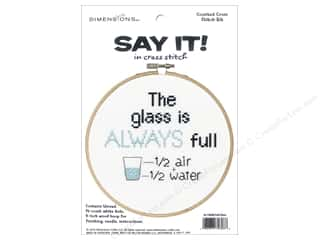 yarn & needlework: Dimensions Counted Cross Stitch Kit 6 in. Say It! Full Glass