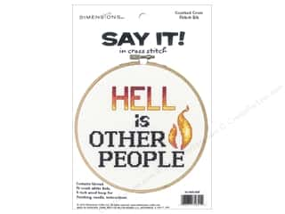 yarn: Dimensions Counted Cross Stitch Kit 6 in. Say It! Other People