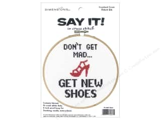 yarn: Dimensions Counted Cross Stitch Kit 6 in. Say It! Shoes