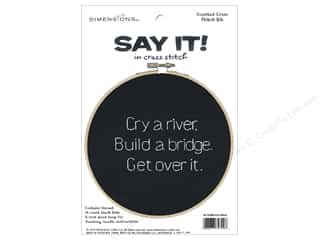 stamps: Dimensions Cross Stitch Kit Say It! Cry A River