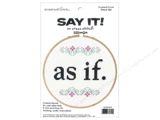 yarn & needlework: Dimensions Cross Stitch Kit Say It! As If