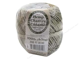 gifts & giftwrap: Darice Hemp Cord 100 lb. Natural 200 ft.