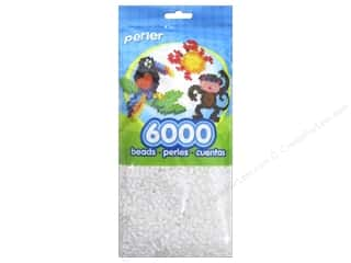 beading & jewelry making supplies: Perler Beads 6000 pc. White