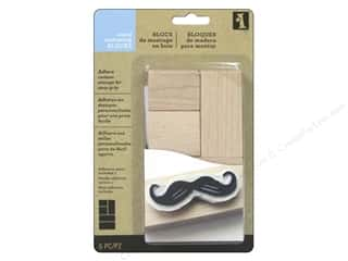 stamps: Inkadinkado Make Your Own Stamp Wood Mounting Blocks Multi