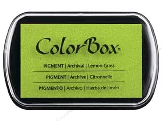 embossing ink: Colorbox Full Size Pigment Inkpad Lemon Grass