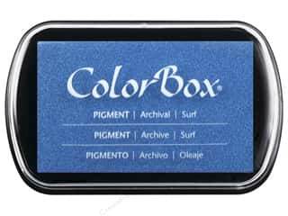 embossing ink: Colorbox Full Size Pigment Inkpad Surf