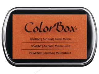 embossing ink: Colorbox Full Size Pigment Inkpad Sweet Melon