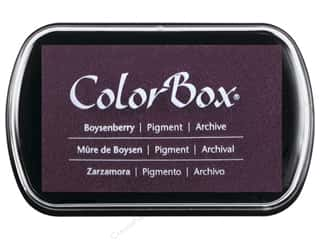 embossing ink: Colorbox Full Size Pigment Inkpad Boysenberry