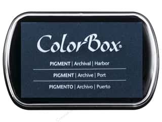 ink pad: Colorbox Full Size Pigment Inkpad Harbor
