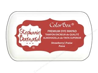 stamp cleaned: ColorBox Premium Dye Mini Ink Pad by Stephanie Barnard Strawberry