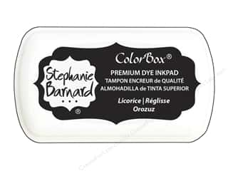 ink pad: ColorBox Premium Dye Mini Ink Pad by Stephanie Barnard Licorice