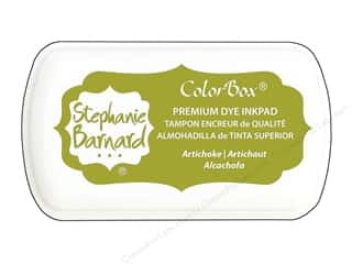 ink pad: ColorBox Premium Dye Mini Ink Pad by Stephanie Barnard Artichoke