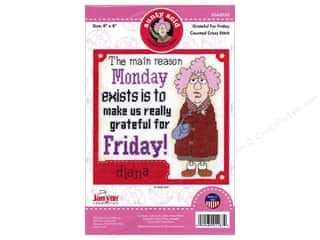 Clearance: Janlynn Cross Stitch Kit Aunty Acid Grateful For Friday