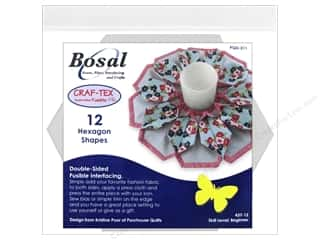 Bosal Craf Tex Interfacing Shape 6 in. Hexagon 12 pc.