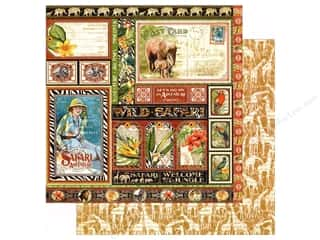 Graphic 45 12 x 12 in. Paper Safari Adventure Amazing Africa (25 sheets)