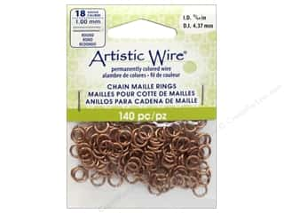 beading & jewelry making supplies: Artistic Wire Chain Maille Jump Rings 18 ga. 11/64 in. Natural 140 pc.