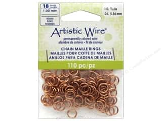 beading & jewelry making supplies: Artistic Wire Chain Maille Jump Rings 18 ga. 7/32 in. Natural 110 pc.