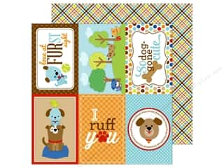 Doodlebug 12 x 12 in. Paper Puppy Love Plaid To The Bone (25 sheets)