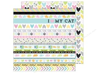 scrapbooking & paper crafts: Doodlebug 12 x 12 in. Paper Kitten Smitten Calico Crush (25 sheets)