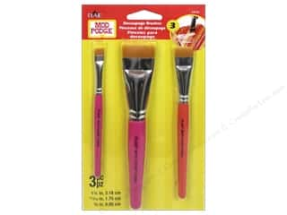 craft & hobbies: Plaid Mod Podge Tools Decoupage Brush Set 3 pc